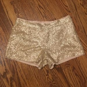 Forever 21 Rose Gold Sequin Shorts S